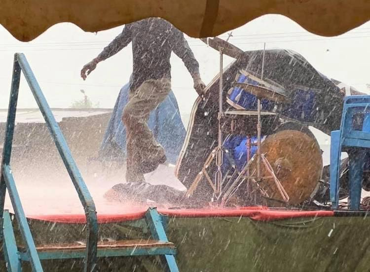 rain in africa - tent mission kenya